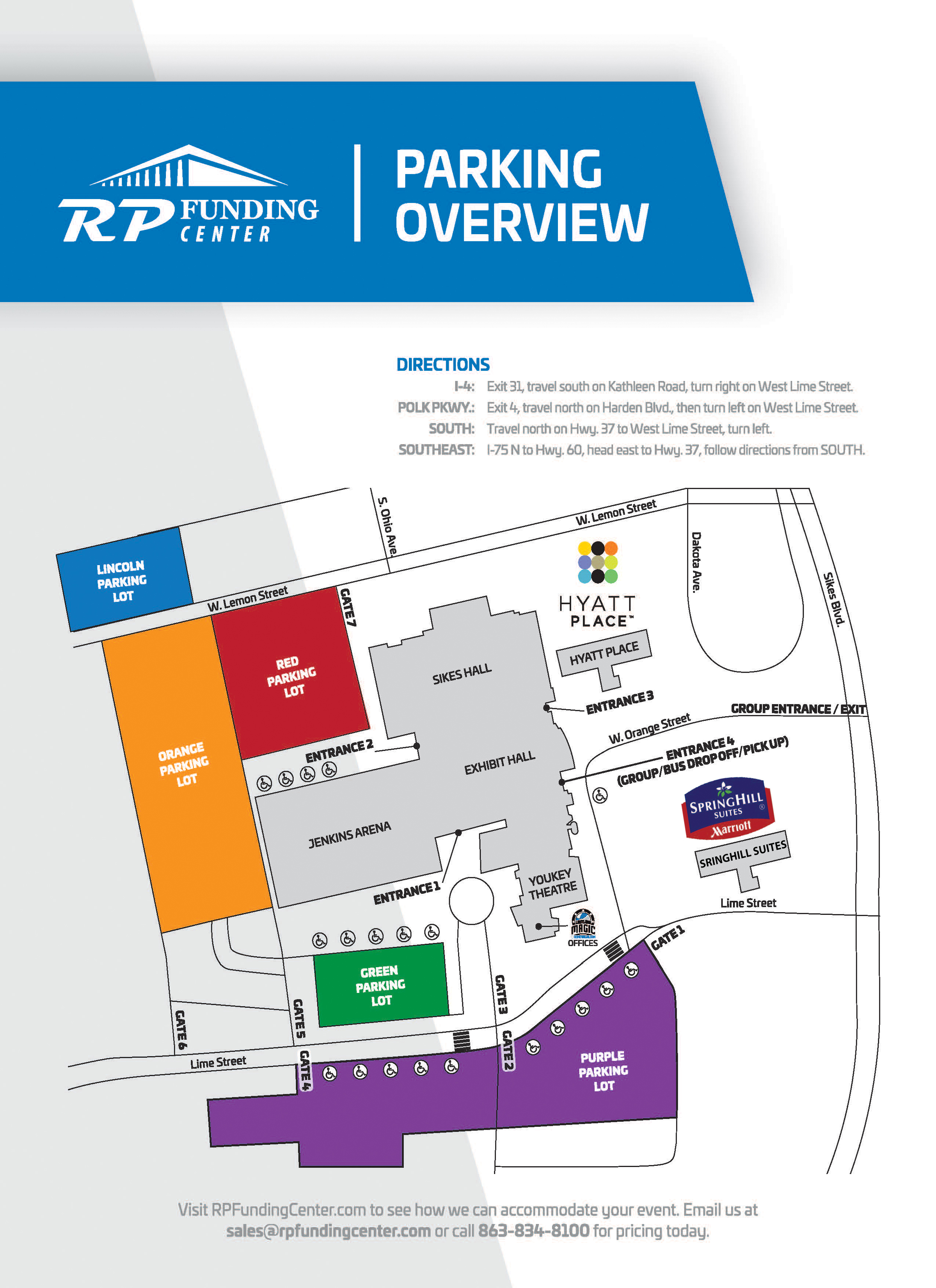 Directions Parking Rp Funding Center