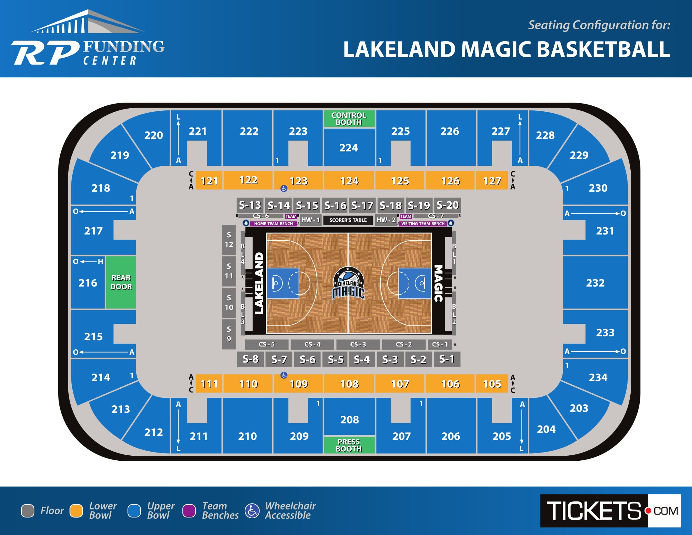 Lakeland Magic Basketball seating map