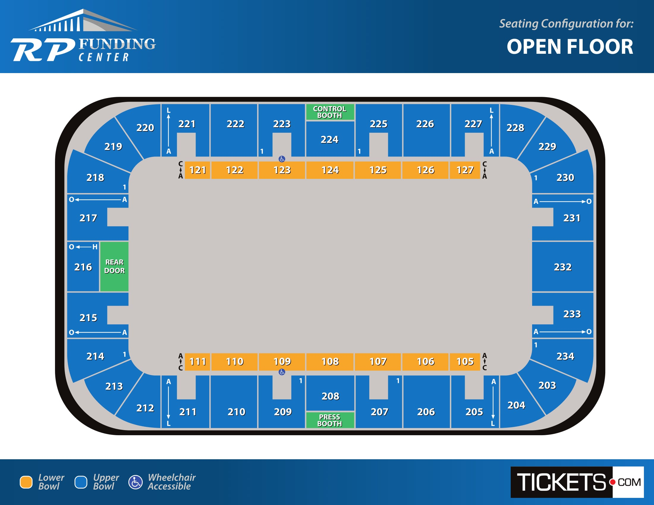 Open Floor seating map