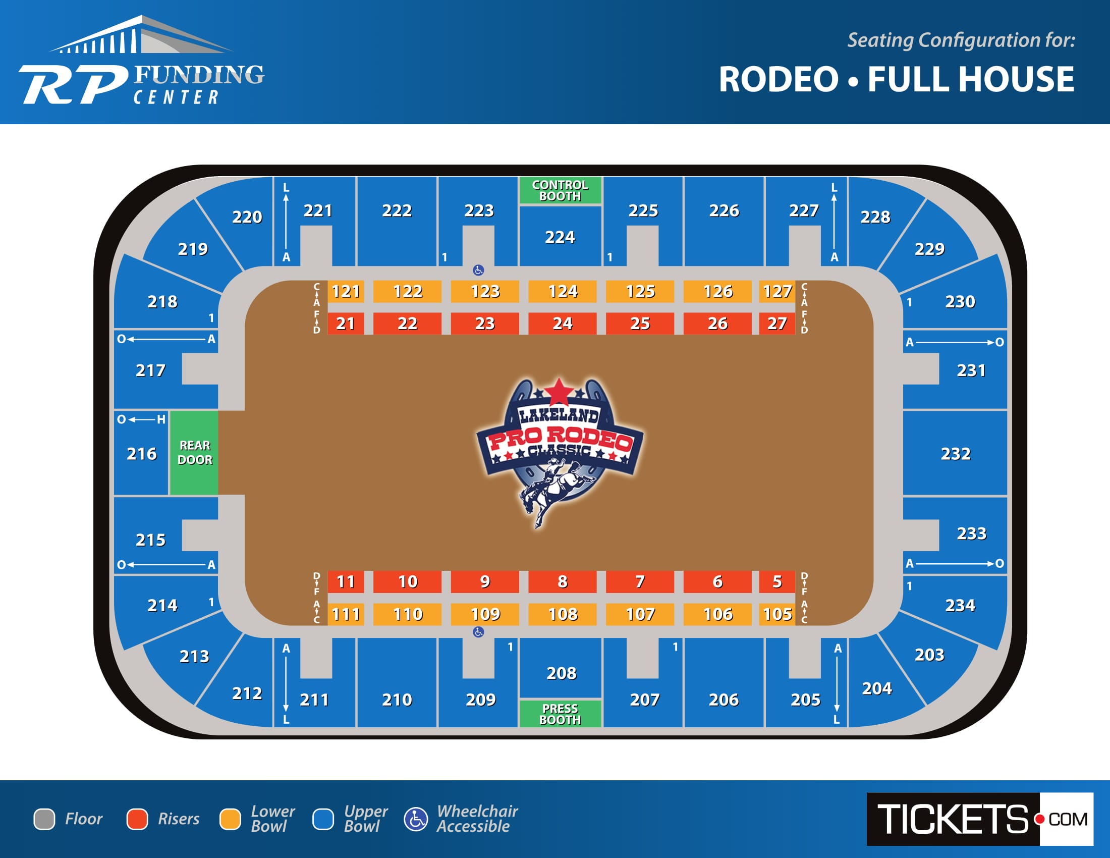 Rodeo - Full House seating map